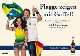 Werbefotografie: Plakatkampagne zur Fussball Weltmeisterschaft 2014 fotografiert von Valery Kloubert in Köln