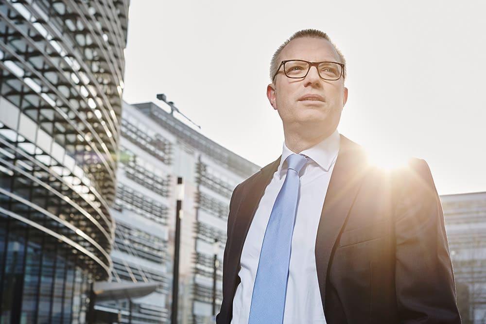 Geschäftsführer Foto Düsseldorf Vodafone Portrait Fotograf