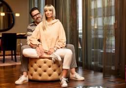 Starfotografie Portrait von Britt und Alex Jolig im Savoy Hotel Köln