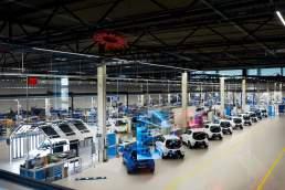 Fabrik der Zukunft Vodafone mit 5G in der E-Go Fabrik in Aachen